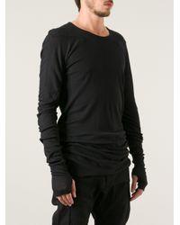 Boris Bidjan Saberi - Black Boris Bidjan Saberi Long Sleeve Top for Men - Lyst