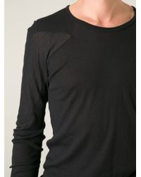 Boris Bidjan Saberi - Black Boris Bidjan Saberi Long Sleeve Top for Men - Lyst