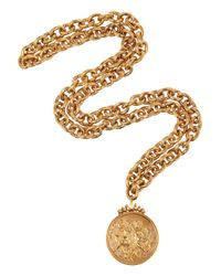 Bottega Veneta - Metallic Gold-Plated Cherub Necklace - Lyst