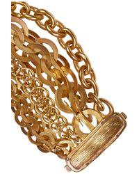 Bottega Veneta | Metallic Gold-Plated Multi-Strand Chain Bracelet | Lyst