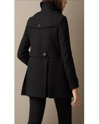 Burberry Black Double Wool Twill Coat