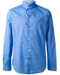 Carven - Blue Flannel Shirt for Men - Lyst