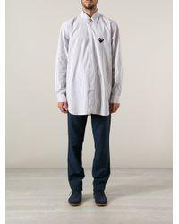Comme des Garçons Blue Play Riga Oversized Striped Shirt for men