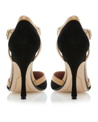Dune Black Caletta Maryjane Pointed Open Court Shoes