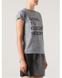 Golden Goose Deluxe Brand Gray Golden Goose Deluxe Brand Slogan Print T-shirt