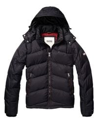 Hilfiger Denim Black Nebraska Down Jacket for men