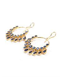 Jade Jagger | Metallic Kyanite Gold Plated Gypsy Earrings | Lyst