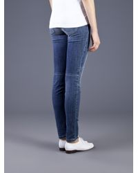 Joe's Jeans Blue Quilted Street Skinny Jean