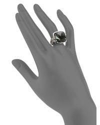 John Hardy Metallic Green Amethyst Sterling Silver Ring