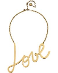 Lanvin | Metallic Stephanie Gold Tone Necklace | Lyst