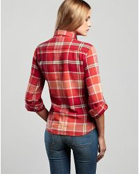 Lucky Brand - Red Orange Flannel - Lyst