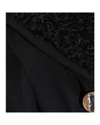 Miu Miu Black Shearlingtrimmed Wool and Angorablend Jacket