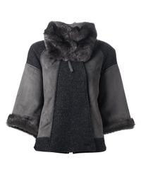 Pinko Gray Pinko Sileno Coat