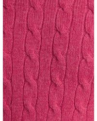 Polo Ralph Lauren Pink Cable Cashmere Cable Crew Neck Jumper for men