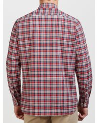 Tommy Hilfiger Red Keydan Check Shirt for men