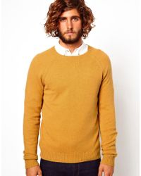 Penfield Yellow Asos Lambswool Rich Sweater for men