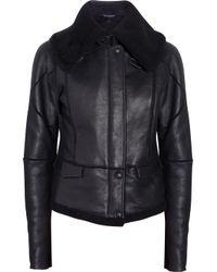 Bottega Veneta Black Shearling Jacket
