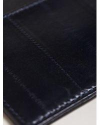 Dries Van Noten - Blue Womens Topstitch Leather Card Holder - Lyst