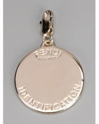 Fendi - Metallic S Identity Pendant - Lyst