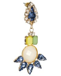 F-Troupe Yellow Johnny Loves Rosie Rhinestone Opaque Drop Earring