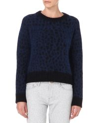 Surface To Air Blue Surface To Air Astro Angora blend Jumper