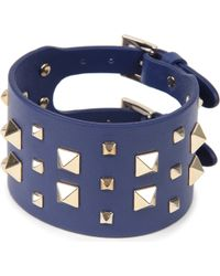 Valentino | Blue Valentino Large Stud Bracelet | Lyst
