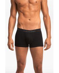 Calvin Klein | Black Cotton Trunks for Men | Lyst