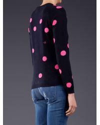 Chinti & Parker Blue Chinti and Parker Cashmere Polka Dot Sweater