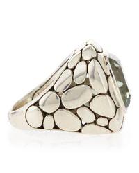 John Hardy | Batu Kali Green Amethyst Large Square Ring Size 7 | Lyst