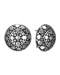 John Hardy Metallic Dot Round Stud Earrings