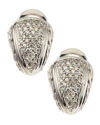 John Hardy Metallic Small Shrimp Diamond Pave Earrings