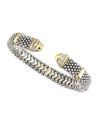 Lagos | Metallic Torque Gold Endcap Bracelet 11mm | Lyst