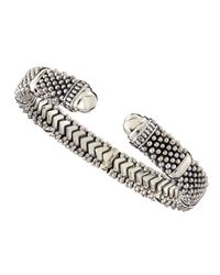 Lagos - Metallic Torque Sterling Silver Bracelet - Lyst