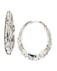 Roberto Coin - White Mauresque Hoop Earrings  - Lyst