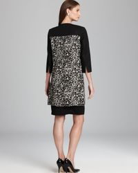 Adrianna Papell Black Animal Print Coat
