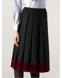 Comme des Garçons Blue Knife Pleat Skirt