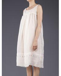 Dosa White Cotton Shift Dress