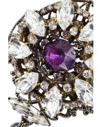 Erickson Beamon - Purple Romanov Rhodium Plated Swarovski Crystal Clip Earrings - Lyst