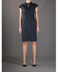 Fendi Gray Zipped Dress