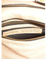 Golden Lane - Natural Nude Perforated Leather Duo Satchel - Last One By - Lyst
