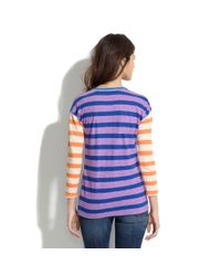 Madewell - Multicolor Long-sleeve Tee in Colorblock Stripe - Lyst