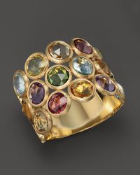 Marco Bicego | Multicolor Mini Jaipur Triple Layer Mixed Stone Ring | Lyst
