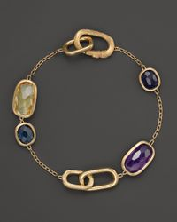 Marco Bicego | Metallic 18k Gold Murano Link Mixed Stone Bracelet | Lyst