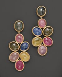 Marco Bicego | Yellow Siviglia 18k Gold Mixed Sapphire Earrings | Lyst