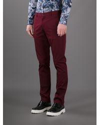 Paul Smith Black Label Red Straight Leg Trouser for men