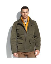 Tommy Hilfiger Green Quilted Bib 4pocket Field Coat for men
