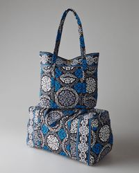 Vera Bradley   Blue Canterberry Cobalt Get Carried Away Tote   Lyst