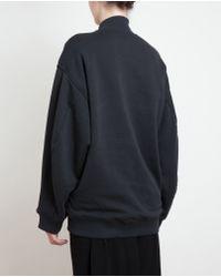 Acne Studios Blue Oversized Felt and Cotton Logo Sweatshirt