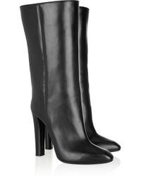 Alexander Wang Black Edythe Leather Knee Boots