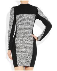 Alexander Wang Gray Wool Blend and Rubberized Tweed Mini Dress